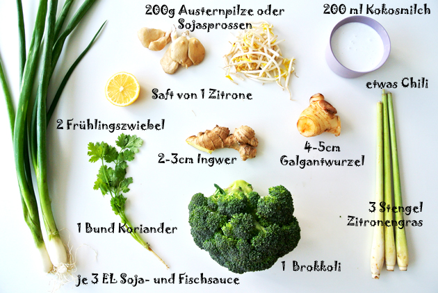 foodblog, TCM Rezepte, fit essen, Thai-Brokkoli-Suppe, Suppe, Brokkoli, Kokosmilch